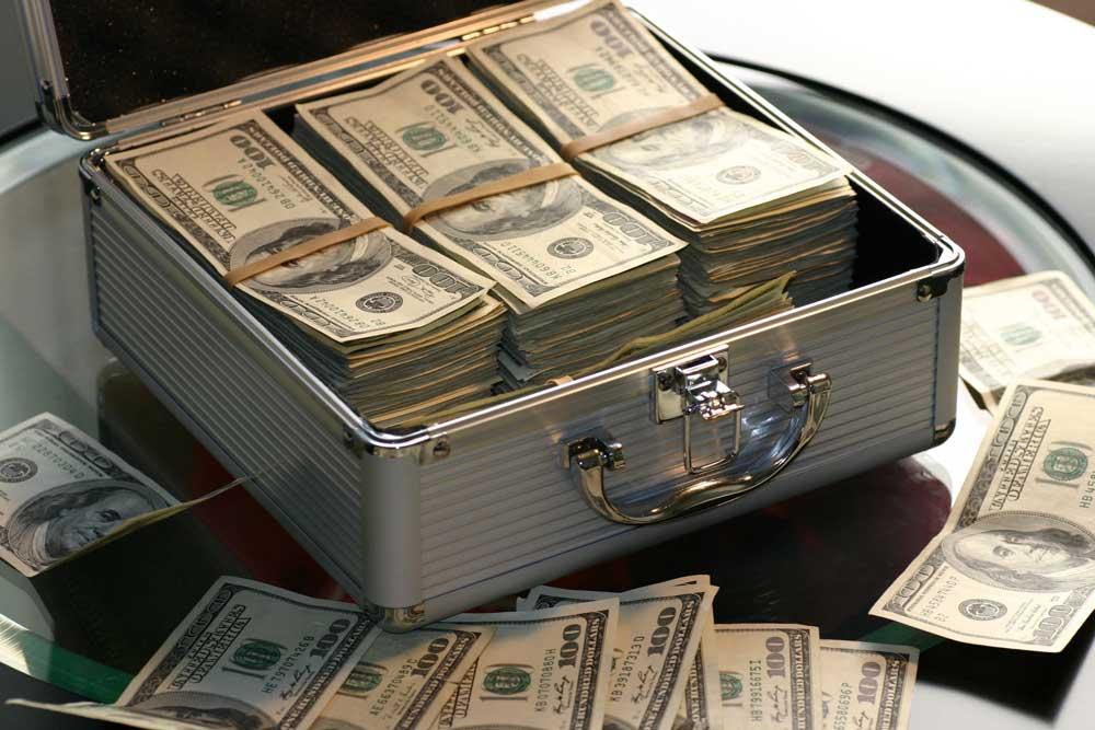 suitcase of cash