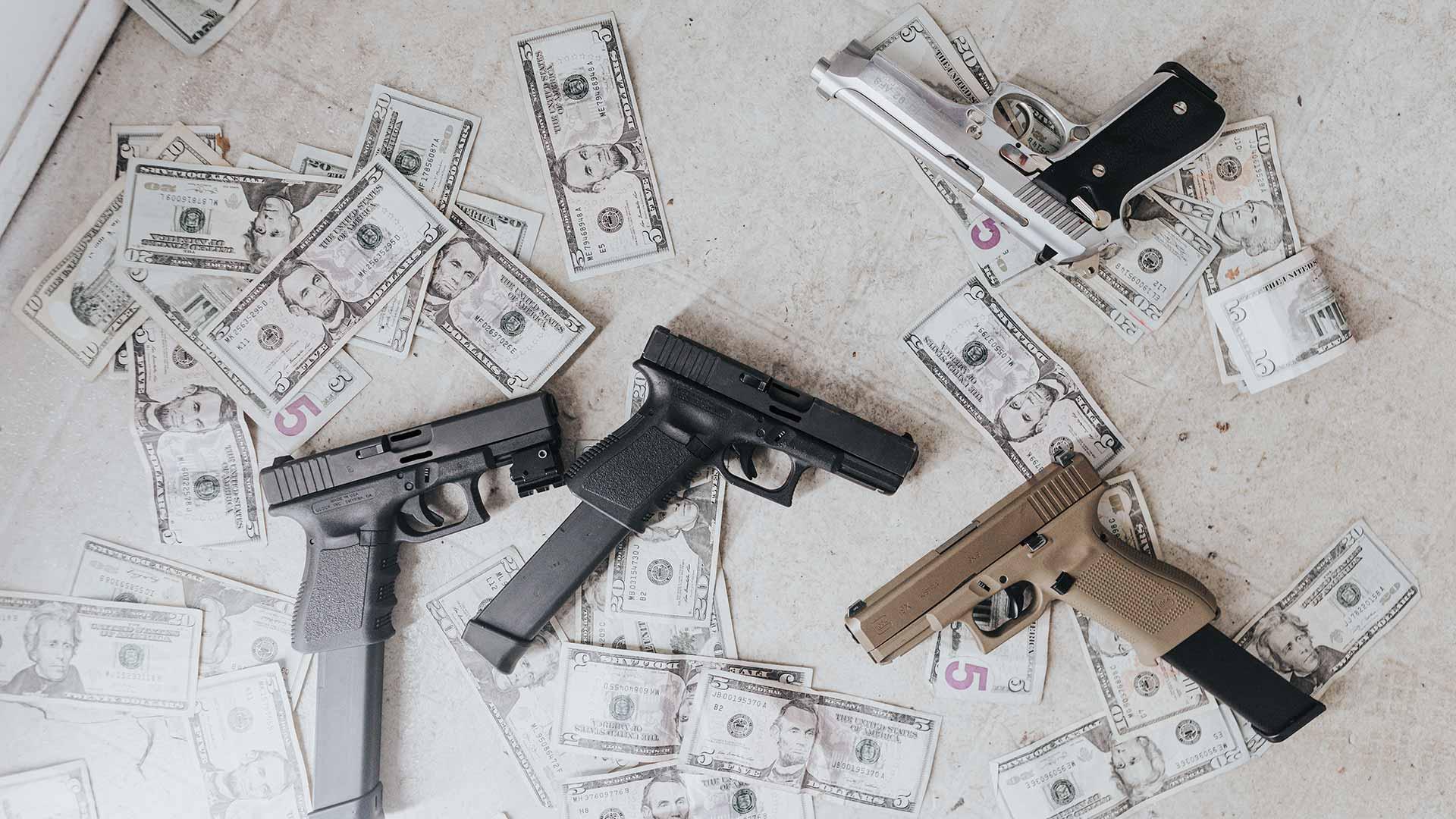guns with cash